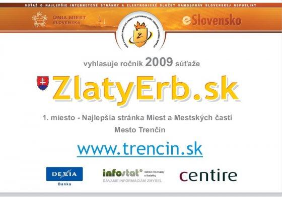 Diplom pre 1. miesto v kategórii najlepšia webová stránka miest a obcí ae4e8f0cdda